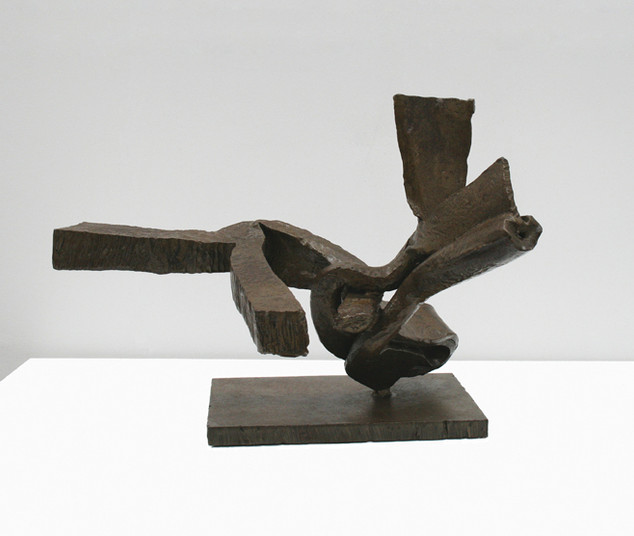 Katherine Gili (b.1948) 'Aqui' 1981, forged mild steel, varnished, waxed, H. 36 x 49 x 45 cm