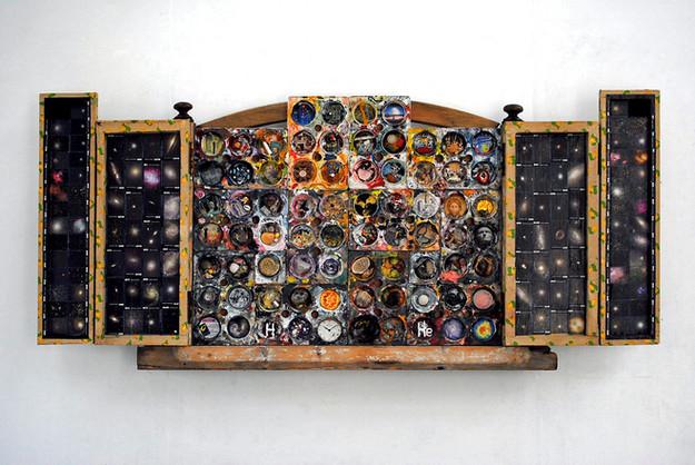 David Redfern (b.1947) 'Stuff' made in 2007, 67.5 x 150 x 14 cm