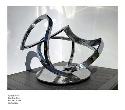 John Atkin (b.1959) 'Eclipse', 2018, stainless steel, 42 x 54 x 40 cm