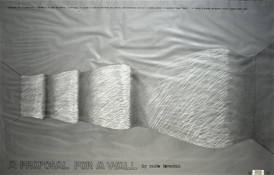Rosie Leventon 'Billowing Wall' 2001, 76 x 103 cm