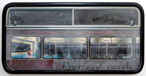 David Redfern (b.1947) 'Smash the Front' 1978, oil on perspex on canvas, 59 x 119 cm  Contact for Price