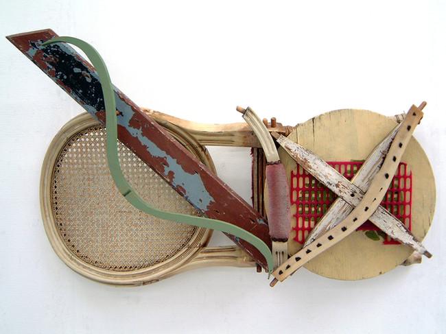 'Broke 'n Brac', 2005, 62 x 100 x 20 cm, found object assemblage