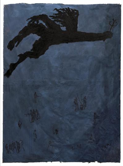 Tam Joseph (b.1947) 'The Flying Doctor', 204 x 171 cm