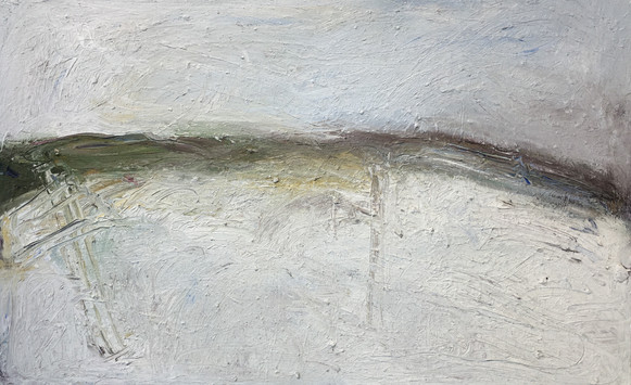 Richard Cook (b.1947) 'Winter Saltings' 2015, oil on canvas, 64 x 102 cm