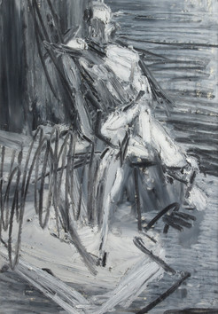 Peter Clossick (b.1948) 'In Motion' oil pastel on paper, 66 x 50 cm