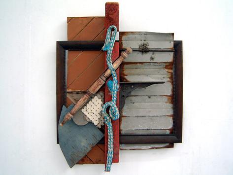 David Redfern (b.1947) 'Al Magisti' 2004, 92 x 70 x 13 cm