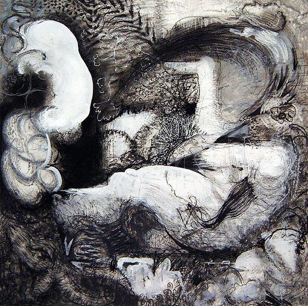 David Redfern (b.1947) 'Rubens Drawing No 9', 122 x 122cm