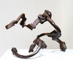 Katherine Gili (b.1948) 'Llobregat' 1989-90, forged mild steel, hot zinc spray, patinated, waxed, H. 54 x 56 x 74 cm
