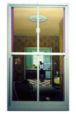 David Redfern (b.1947) 'Look Through Any Window' 1976, oil on canvas, 76 x 38 cm  Blackburn Museum and Art Gallery