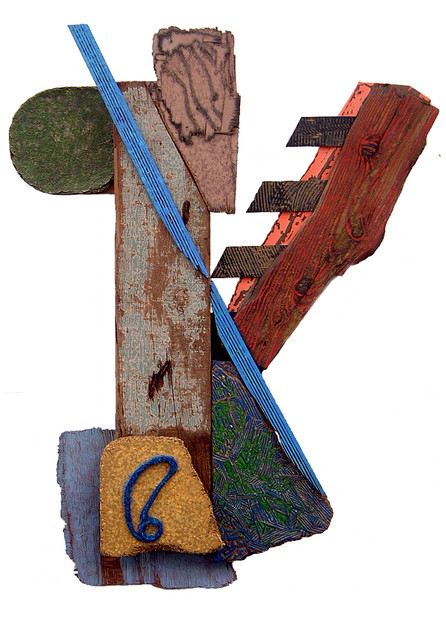 'Fomalhaut', 1997, 88 x 66.5 x 15 cm, found object assemblage