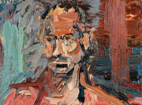 Peter Clossick (b.1948) 'Yanni' oil on board, 62 x 78 cm