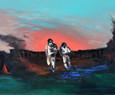 Richard Harrison (b.1954) 'Expulsion' 2011, 152 x 183 cm  Contact for Price