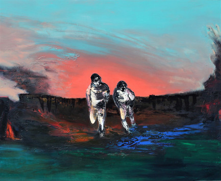 Richard Harrison (b.1954) 'Expulsion' 2011, 152 x 183 cm