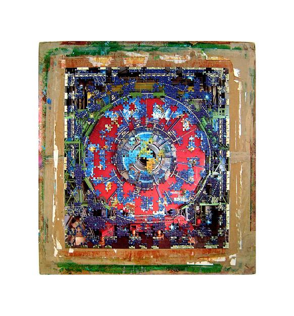 David Redfern (b.1947) 'Astrologonomy' made in 2008, 71.5 x 67 x 3 cm