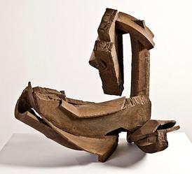 Katherine Gili (b.1948) 'Rise' 1979, H 90 x 98 x 60 cm, mild steel waxed