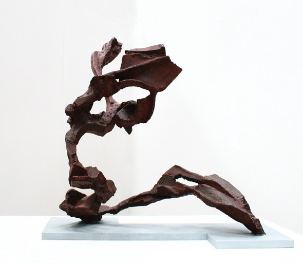 Katherine Gili (b.1948) 'Sprite' 1989-91, forged mild steel, hot zinc spray, patinated, waxed, H. 65 x 64 x 60 cm
