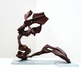Katherine Gili (b.1948) 'Sprite' 1989-91, forged mild steel, hot zinc spray, patinated, waxed, H. 65 x 64 x 60 cm
