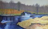 18.   Confluence of Afon Treweryn               89 x 144 cms.JPG