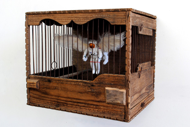 'Caged Angel', 2016, 24 x 28 x 23 cm