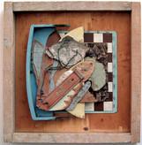 David Redfern (b.1947) 'Ahnest du den Schopfer, Welt?' 1996, 72 x 72 x 7 cm  Contact for Price