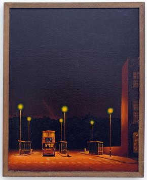 David Redfern (b.1947) '185 Victoria' 1982, oil on canvas, 51 x 41 cm