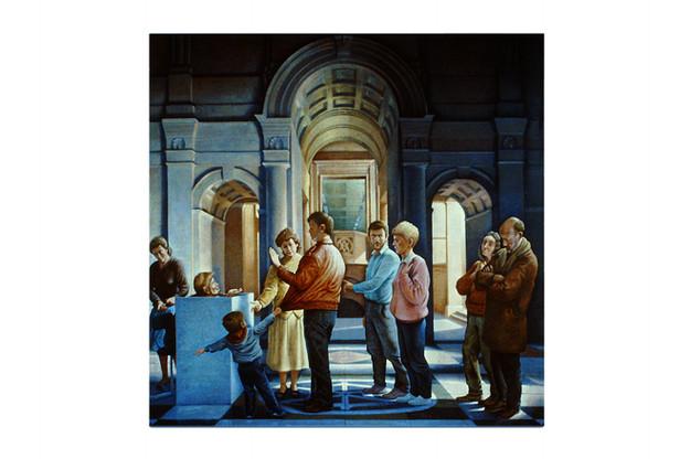 'We Refuse', 1986, 137 x 137 cm, oil on flax