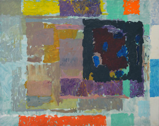 James Faure Walker (b.1948) 'Turning' 1989, oil on canvas, 91 x 114 cm  Contact for Price