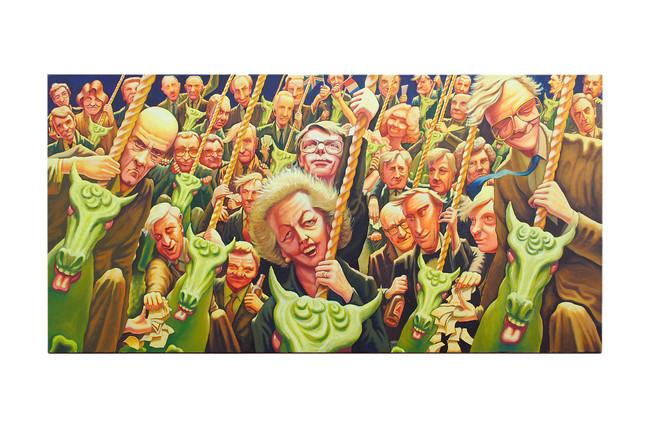 'Merry-go-round', 1991, 91 x 182 cm, oil on canvas