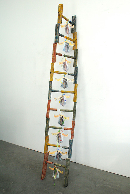 'Jacob's Ladder of Many Colours', 2014, 233 x 41.5 x 70 cm