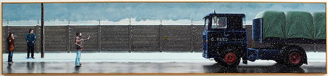 'Strife', 1979, 46 x 206 cm, oil on canvas