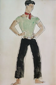 Christopher Wood (1901-1930), Youth in a neckerchief