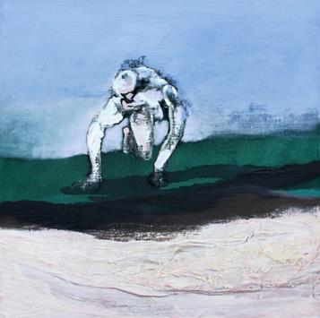 Richard Harrison (b.1954) 'Down By The Shore' 2017, 51 x 51 cm