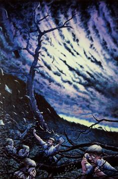 David Redfern (b.1947) 'October Fall' 1988, oil on canvas, 137 x 91 cm