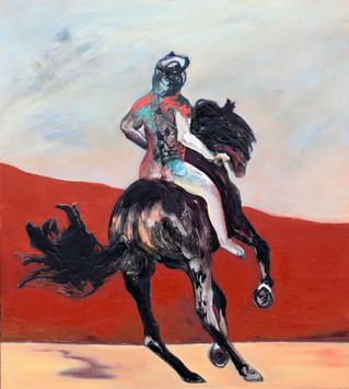 Richard Harrison (b.1954) 'Rider' 2019, 101 x 91 cm