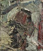 Peter Clossick (b.1948) 'Trevor Aston' oil on canvas, 42 x 34 cm framed