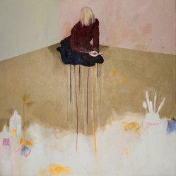 Suzan Swale (b.1946) 'Artemisia' 2016, acrylic on canvas, 112 x 112 cm