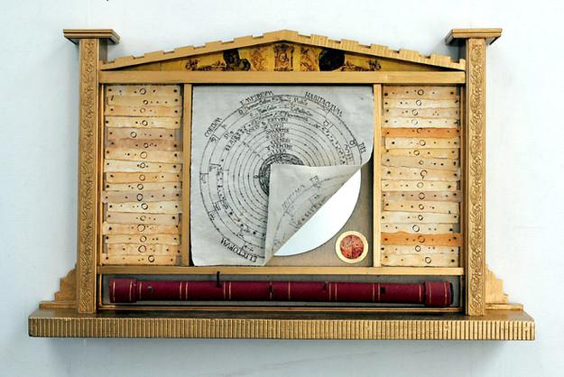 David Redfern (b.1947) 'Galileo's Alteredpiece' made in 2010, 69 x 113.5 x 15 cm