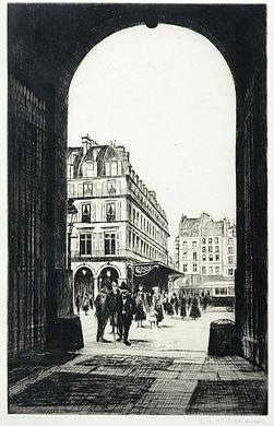CRW Nevinson (1889-1946), Le Louvre (Rue de Rivoli)
