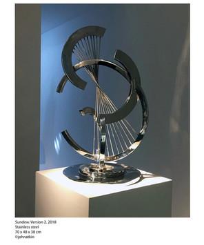 John Atkin (b.1959) 'Sundew, version 2', 2018, stainless steel, 70 x 48 x 38 cm