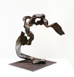 Katherine Gili (b.1948) 'Bold' 1988, forged mild steel, waxed, H. 59 x 66 x 45 cm