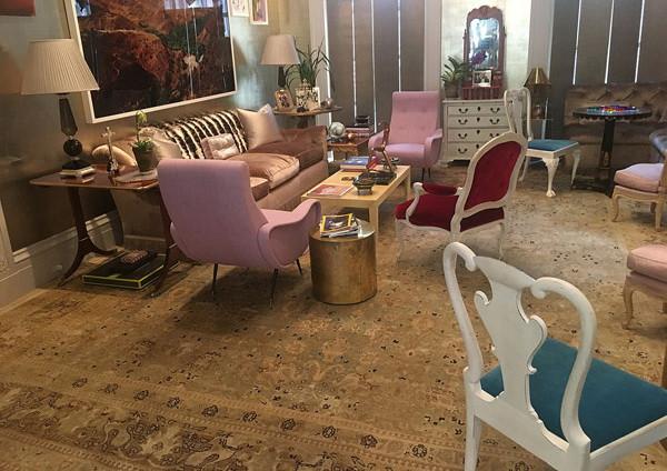 Soft Living Room Oushak