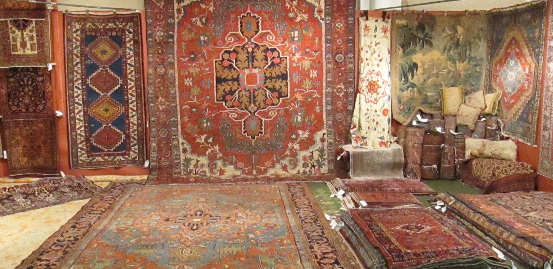 Beautiful Antique Rug Booth