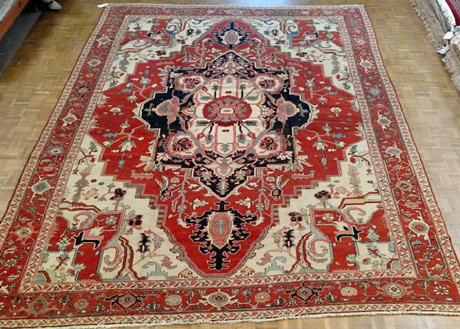 Antique oriental room size rug