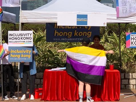 Volunteer at HKPride Booth