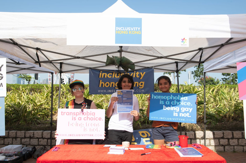 Volunteers at HKPride Booth