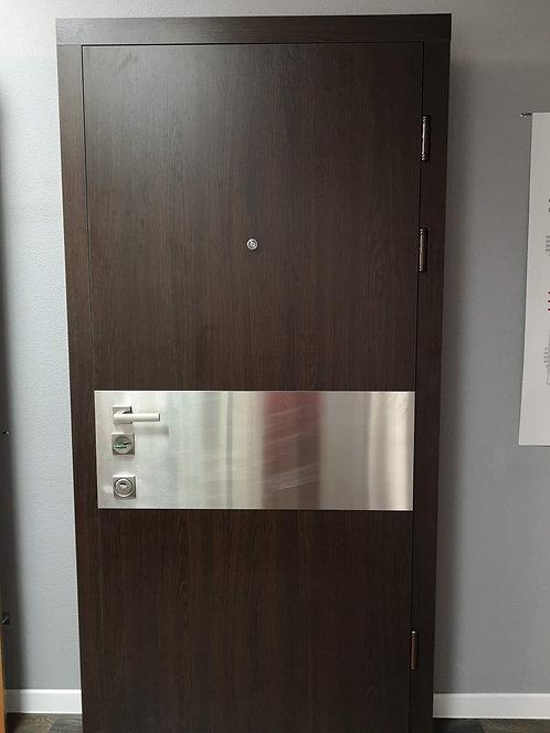 9210 ПМЛ венге/вставка- нержавейка матовая
