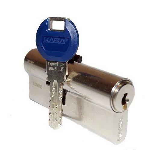 Цилиндр KABA expertT pluS 80 мм ключ-ключ NI 3 ключа