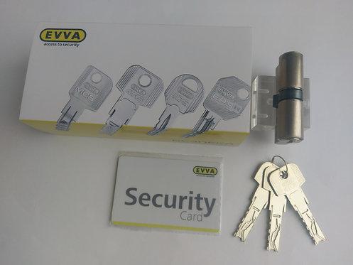 Цилиндр EVVA 4KS 102 мм ключ-ключ 3 ключа NI
