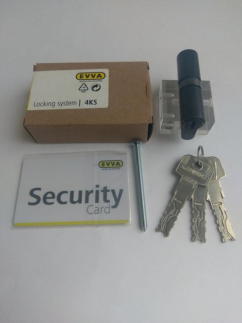 Цилиндр EVVA 4KS 62 мм ключ-ключ 3 ключа PB