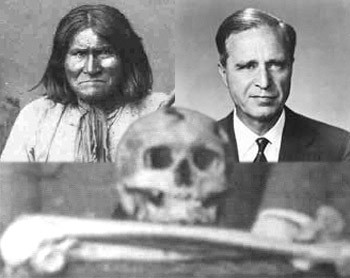 La calavera de Gerónimo la tiene skull and bones